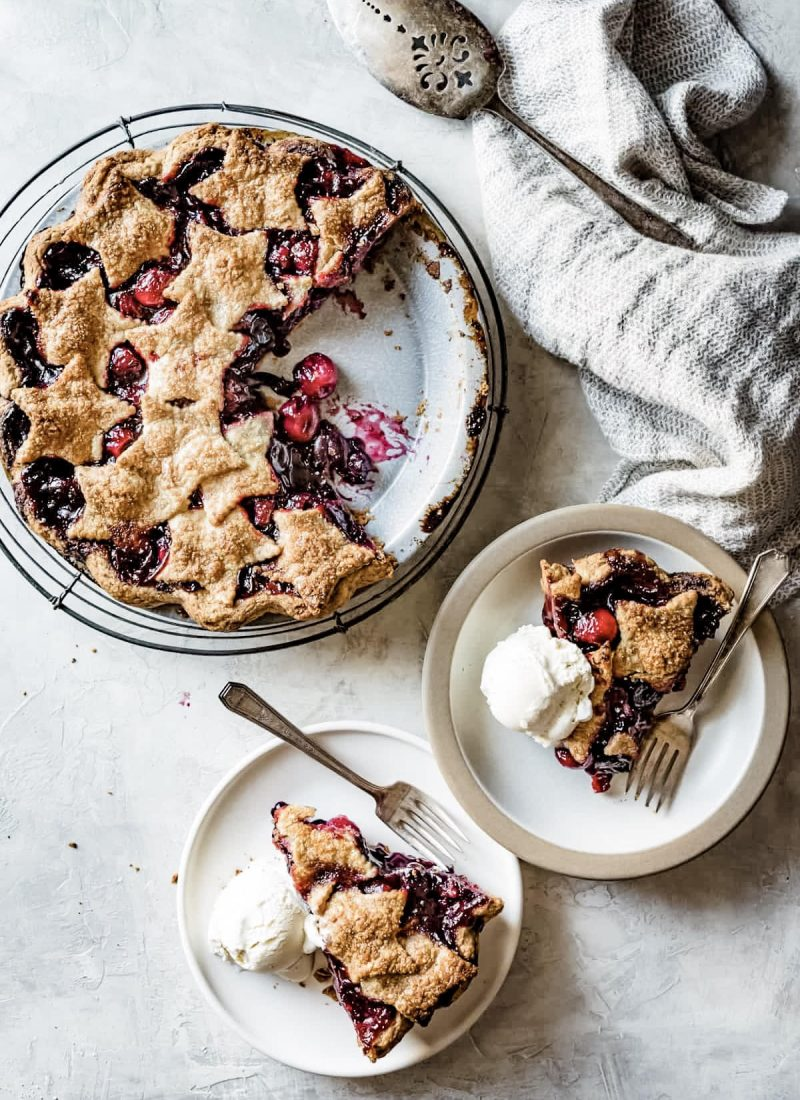 Spiced Bourbon Cherry Pie (Gluten + Refined Sugar Free)