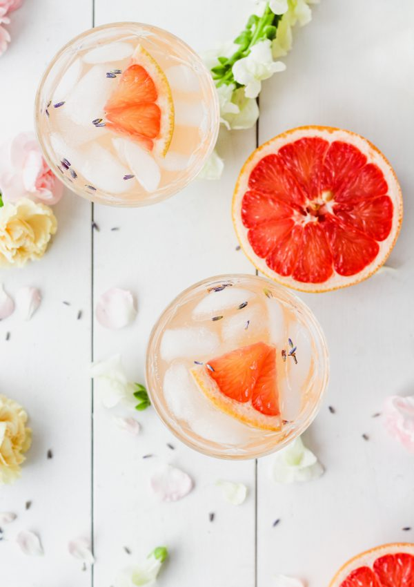 Lavender Grapefruit Gin Cocktail