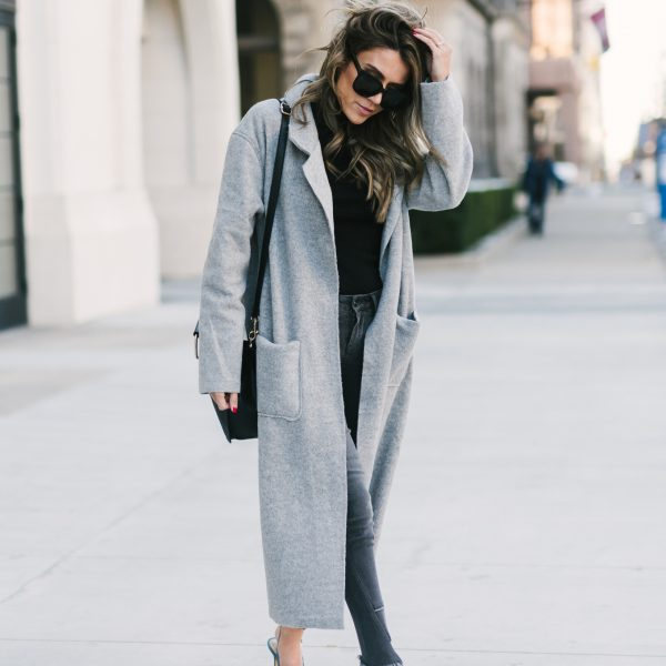 The Perfect Grey Coat for Fall