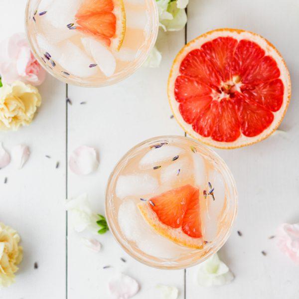 Lavender Grapefruit Gin Cocktail