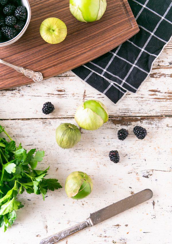 Blackberry Tomatillo Margarita